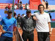 Talal i Amer na početku meča
